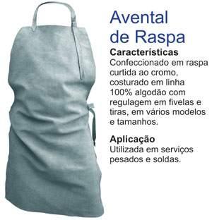 52a344da06f1a Avental de Raspa Grande - PRODUTO EM FALTA, DIRECIONE VIA CARRINHO ...